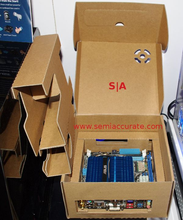 Asus cardboard box case