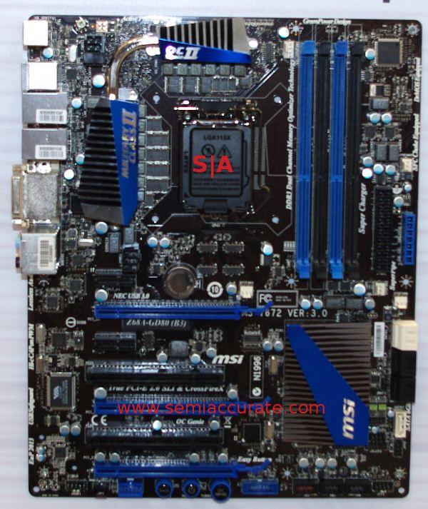MSI Z68 chipset
