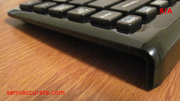 Side of Keyboard