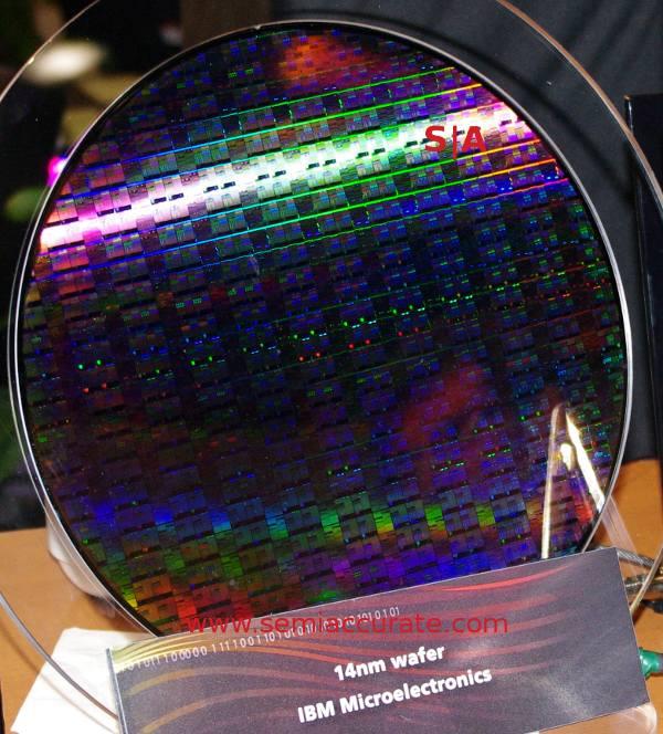 IBM 14nm wafer