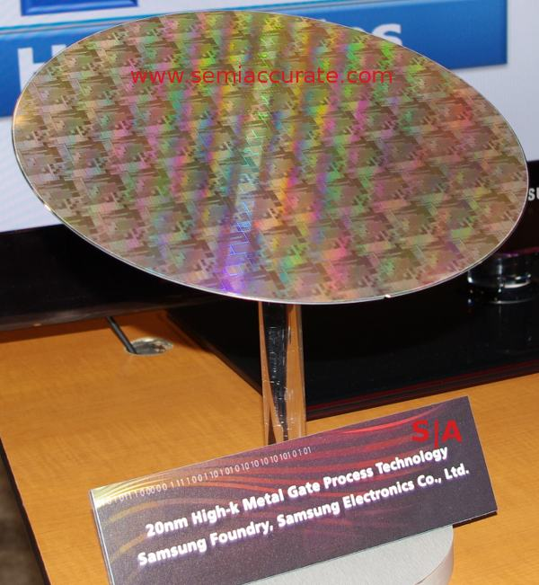 Samsung 20nm wafer