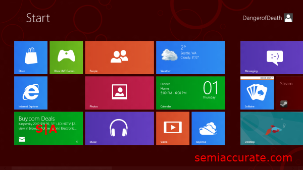 Start Screen A Look at the Windows 8 Consumer Preview