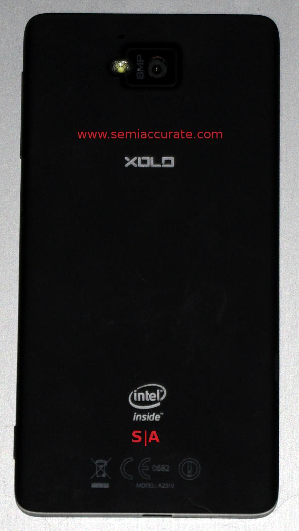 Intel Medfield Lava Xolo X900 rear How well does Intels new phone work as a phone?