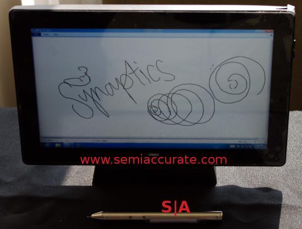 Synaptics active pen