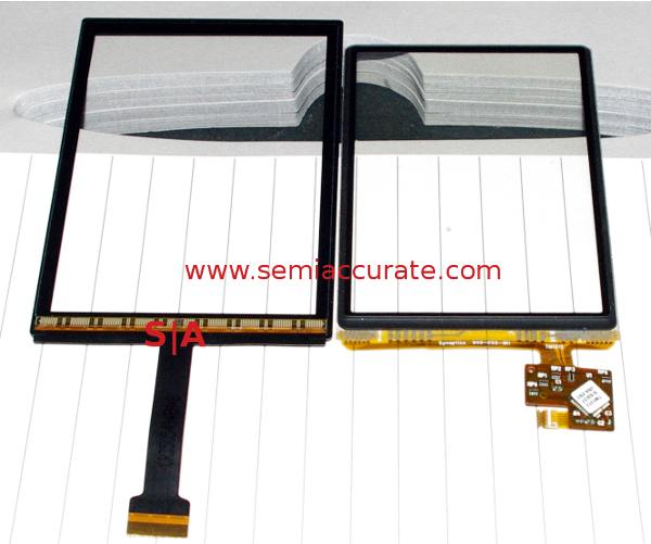 Synaptics integrated screen and InCell