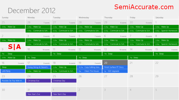 Calendar App Living with Microsofts Surface RT
