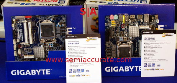 Gigabyte thin ITX Gigabyte shows off three long rumored technologies