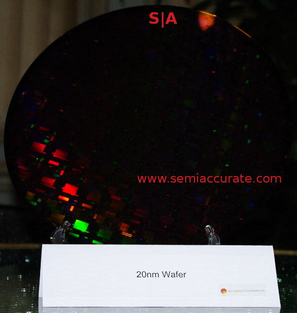 GloFo 20nm wafer Global Foundries shows off 20nm and 14nm wafers