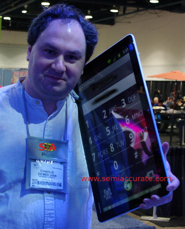 Sony Core i7 phone prototype Prototype Intel Core i7 phone platform spotted and tested