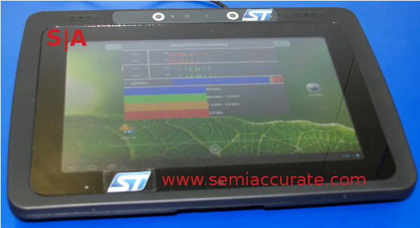 ST-Ericsson 3.0GHz NovaThor L8580 demo tablet