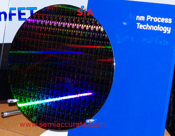 Samsung 14nm wafer Samsung shows off 14nm test wafer