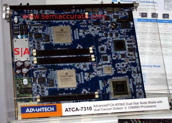 Advantech Cavium Octeon II ATCA board