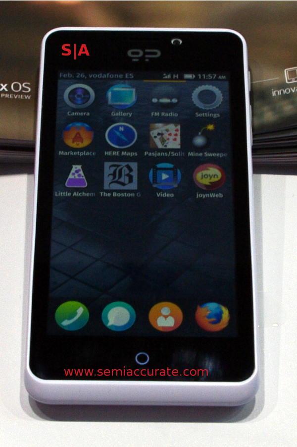 Geeksphone Peak phone running Firefox OS