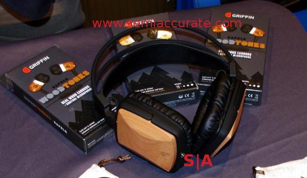 Griffin WoodTones wood trimmed headphones