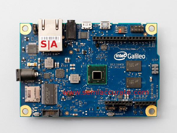 Intel Galileo Quark X1000 based Arduino board