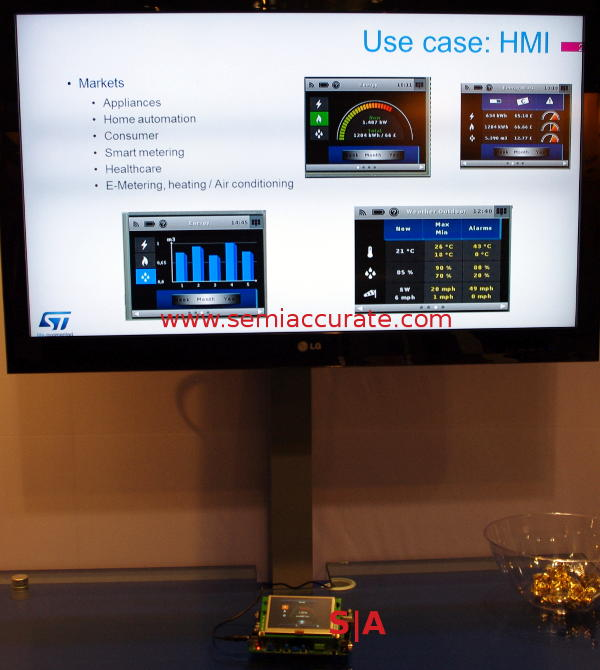 STM32 family with Java and GUI widgets