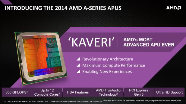 AMD Kaveri intro slide