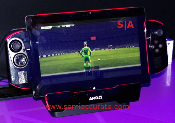 AMD tablet gaming dock