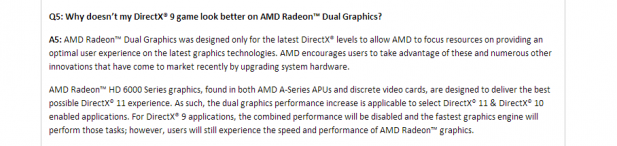 AMD Dual Graphics DX9