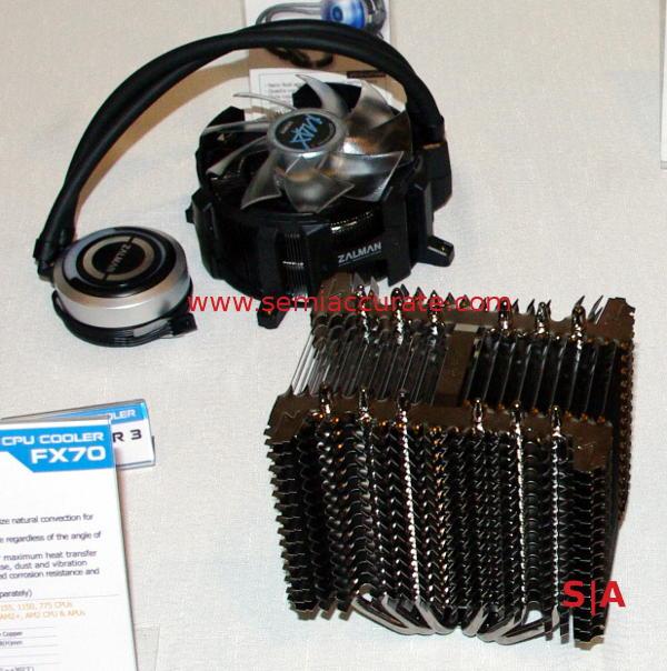 Zalman FX70 heatsink and Reserator water cooler