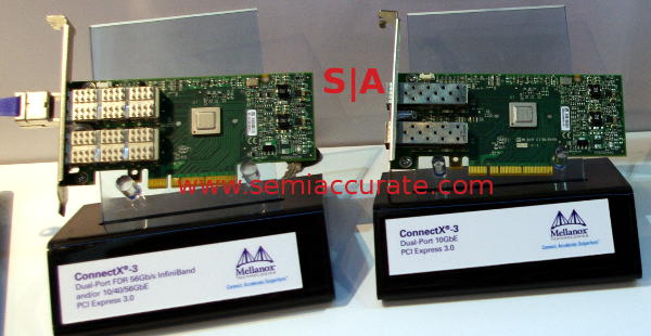 Mellanox 10GbE and 56GbE cards
