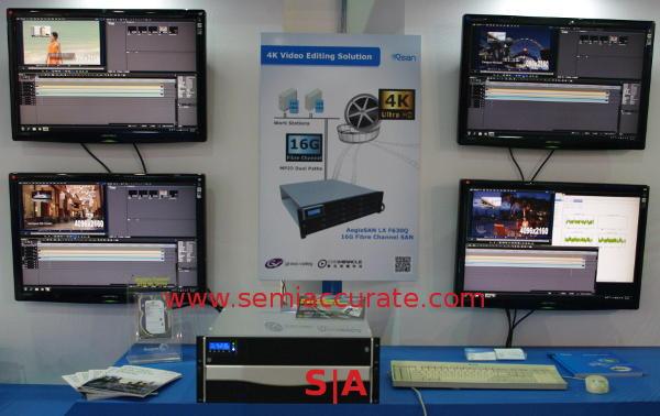 Qsan P600Q 4x 4K video editing demo