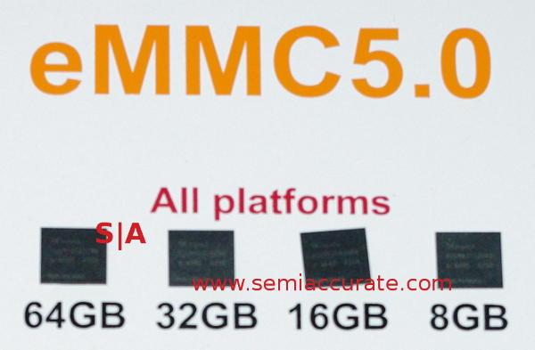 Hynix eMMC5.0 stacks