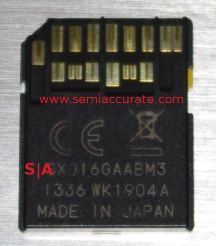 Toshiba UHS-II SD card back