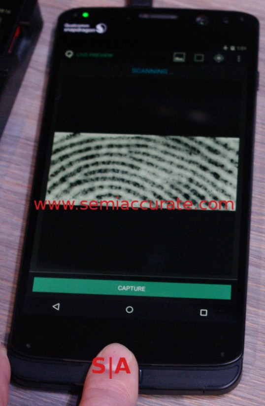 Qualcomm SenseID fingerprint scanner