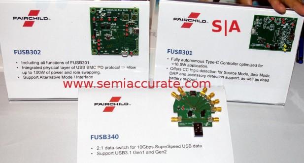Faichild FUSB301, FUSB302, FUSB340 boards