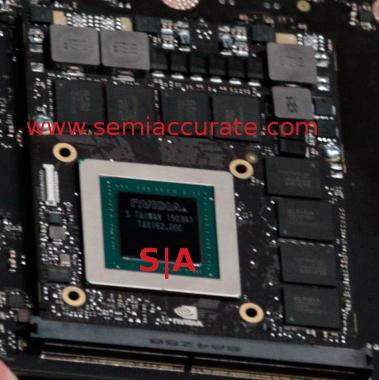 Nvidia Pascal closeup from Drive PX 2 module