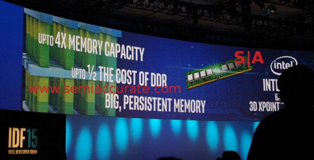 Intel IDF 2015 Xpoint density claim