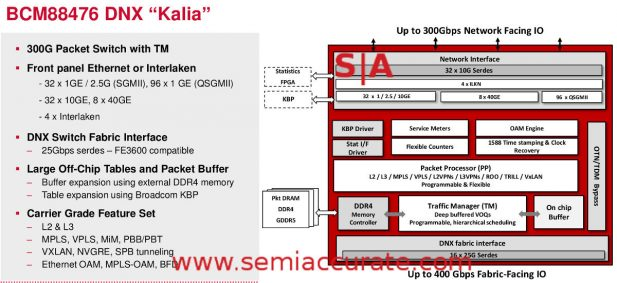 Broadcom Kalia block diagram