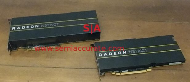 Radeon Instinct MI6 and MI25 cards