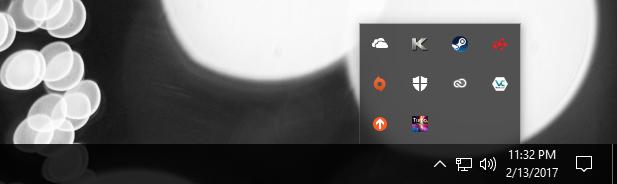 Intel TBMT tray icon