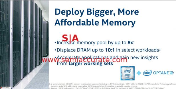 Intel Xpoint claims slide 2