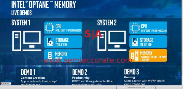 Intel Xpoint demo systems specs 1