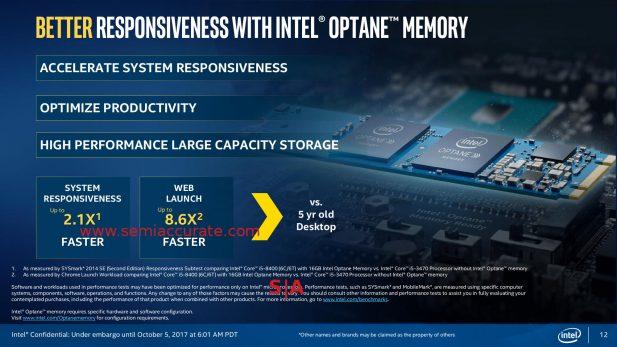 Intel 8th Gen Xpoint/Optane slide