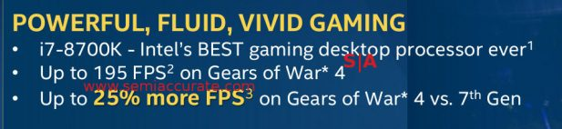 Intel 8th Gen gaming bullet points