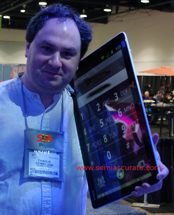 Sony Intel Core i7 phone platform prototype