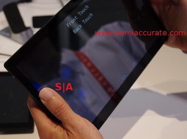 Synaptics Sensa back touches