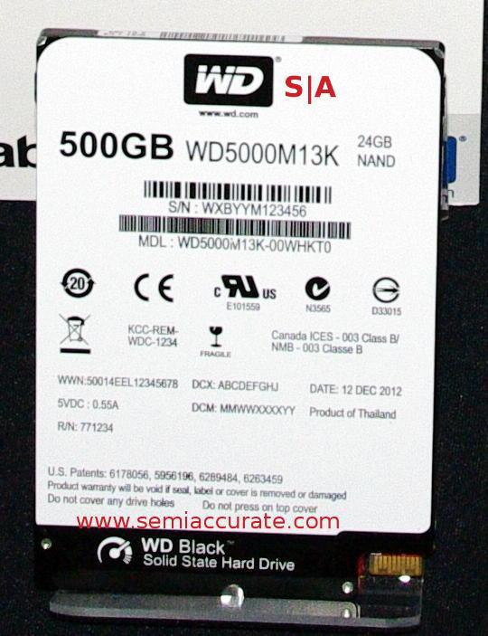 Western Digitial 500GB SSHD Black