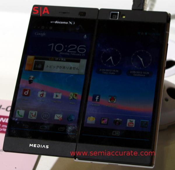 NEC Medias W dual screen phone