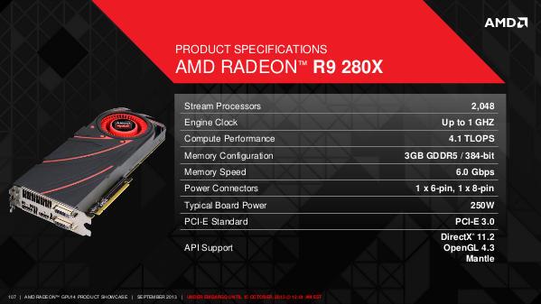 AMD's R9 280X GPU specs