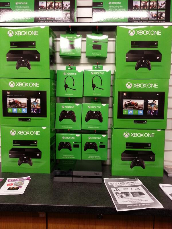 XBox One display from a tweet by Game